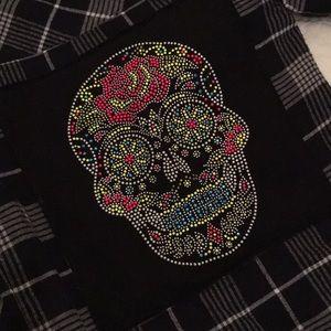 (Girls Large) Flannel / Skull Top